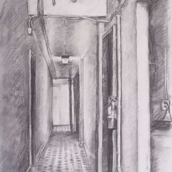 Charcoal, 24 x 18 in., 2009