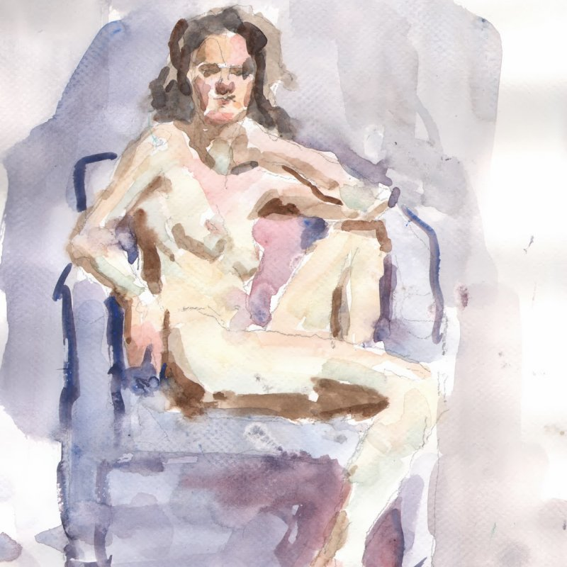 'Jenna (in chair)' 9x13 in., 20 min. pose