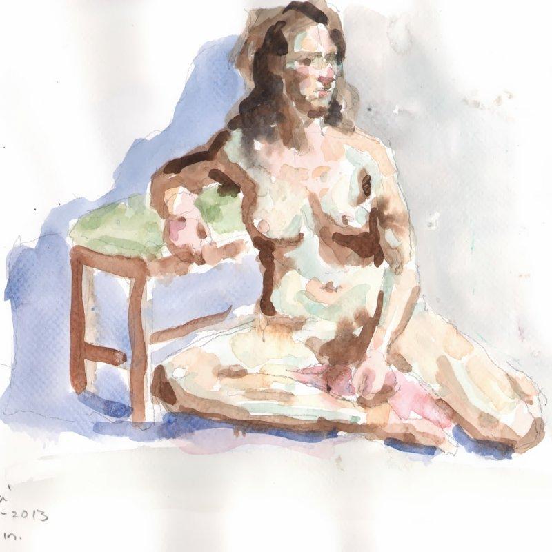 'Jenna (seated)' 13x9 in., 20 min. pose