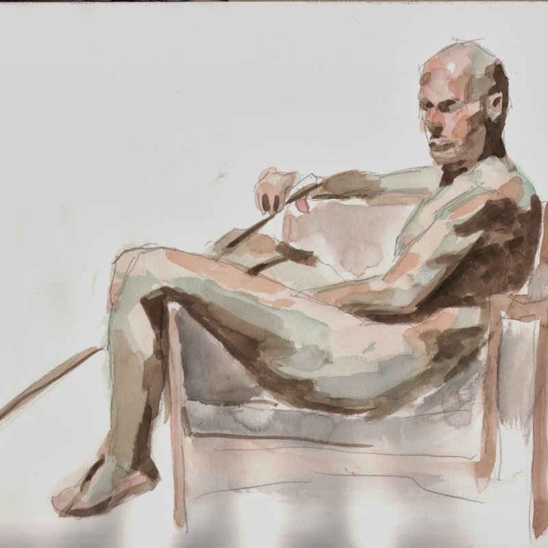 'Fred, pose 2', 12x16 in., 20 min. pose