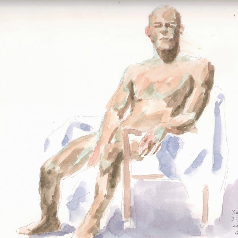 'Seneca', 12x16 in., 20 min. pose