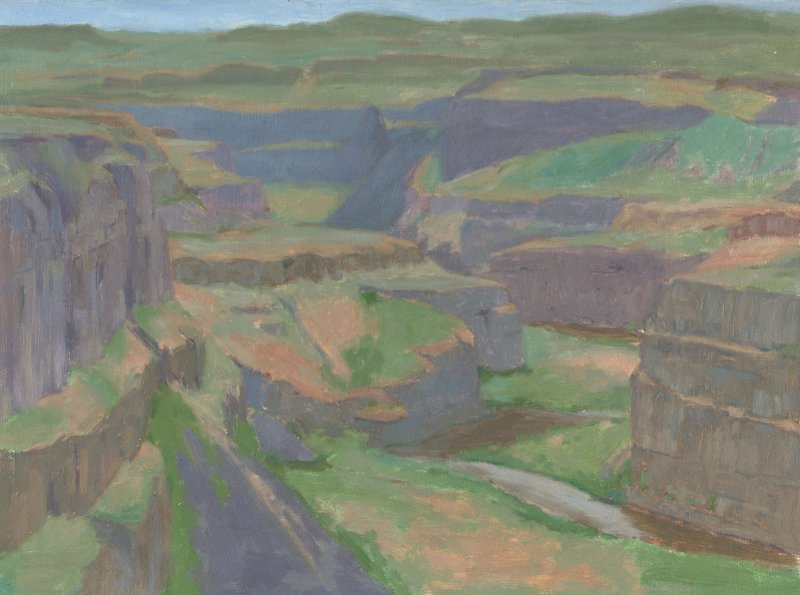 Palouse Falls, 12 x15 in. oil on panel