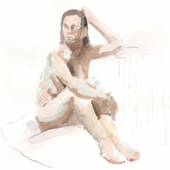 'Anna 2', 12 x 16 in., 20 min. pose