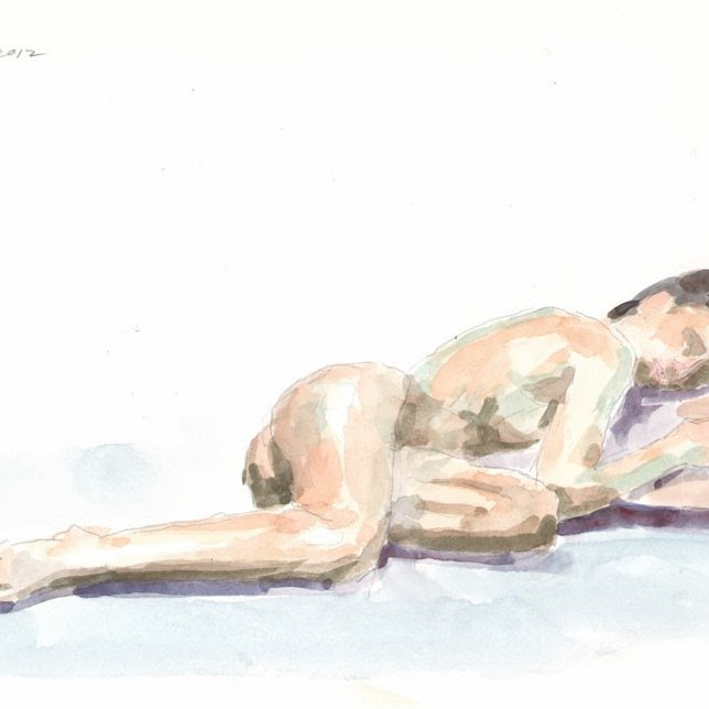 'Yma (reclining)', 12 x 14 in., 20 min. pose