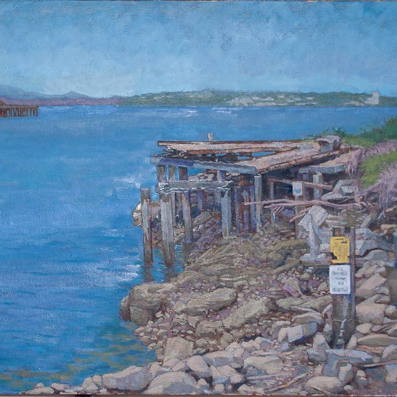 Waterfront Remnants, oil on linen, 24 x 30 in.