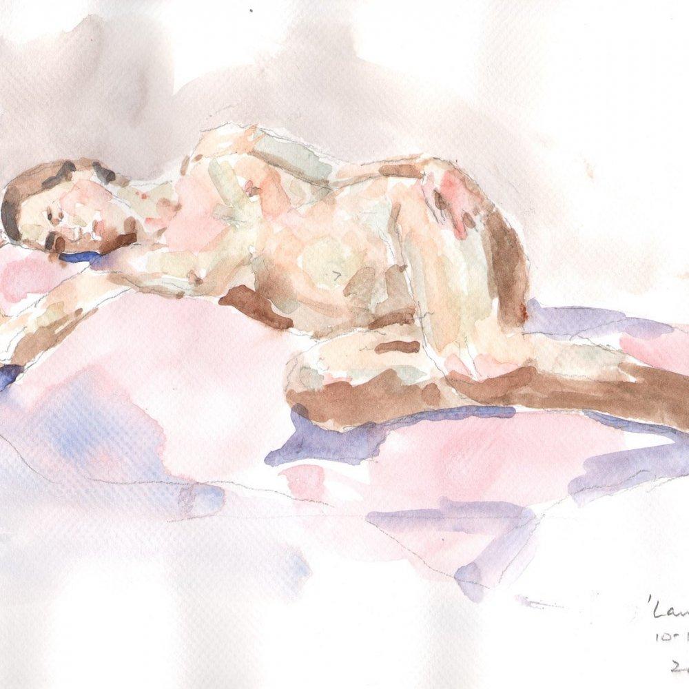 Lauren,watercolor on paper, 10 x 13 in.