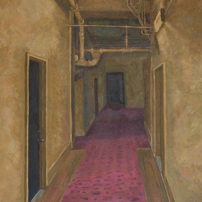 Creepy Corridor, oil on canvas, 30 x 24 in.