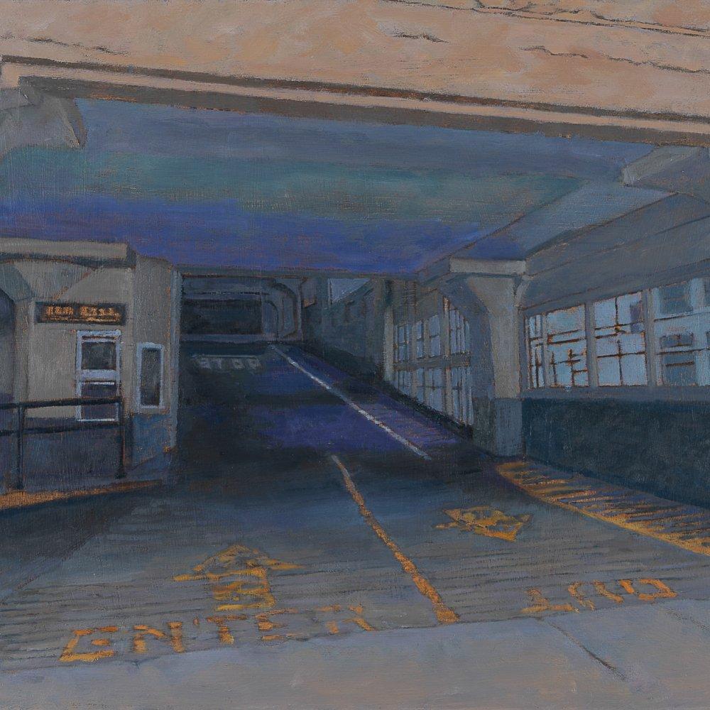 Urban Cavern, oil on panel, 14 x 18 in.