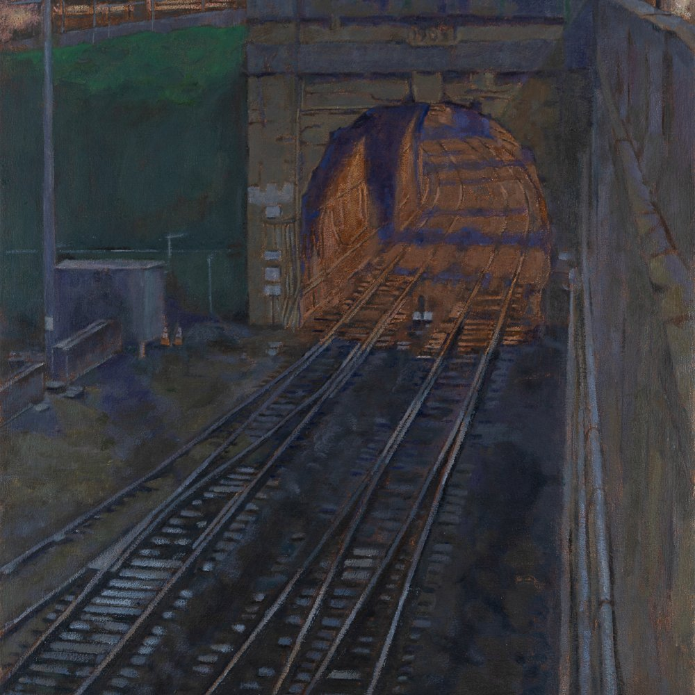Great Northern Rail Tunnel, oil on canvas, 26 x 21 in.