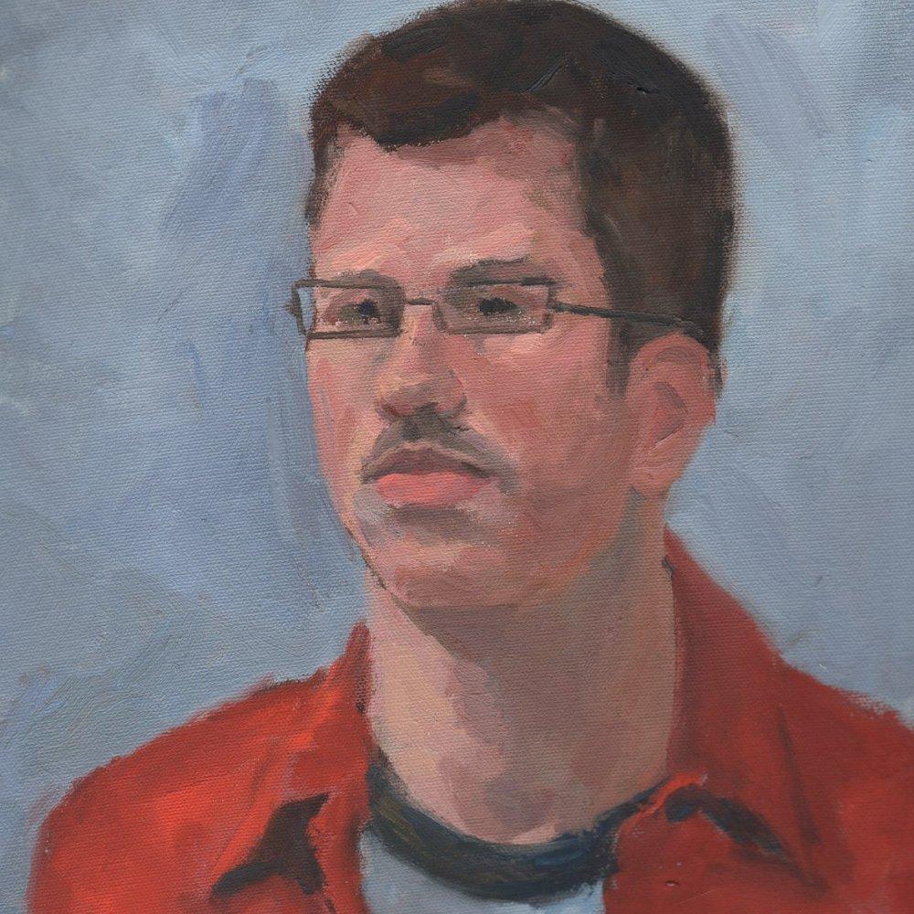 Matt, oil on canvas, 14 x 11 in.