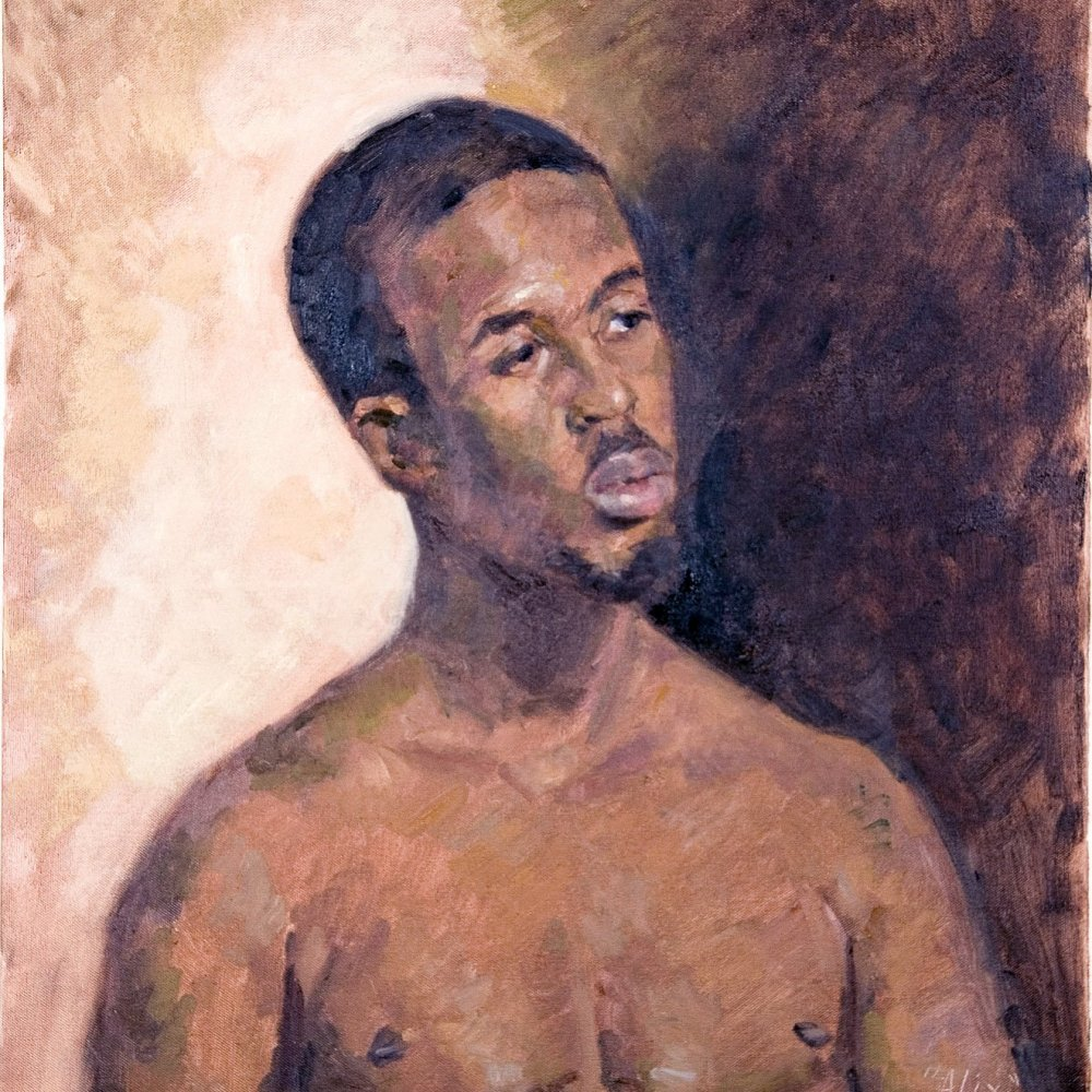 Othello, oil on canvas, 24 x 20 in.