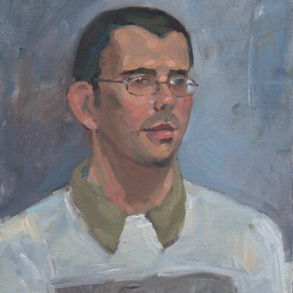 Jason, oil on canvas, 14 x 11 in.