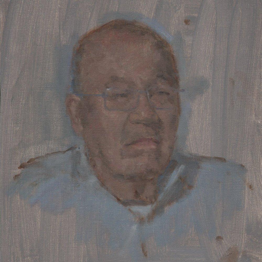 James Furiya - artist's father, oil on linen.