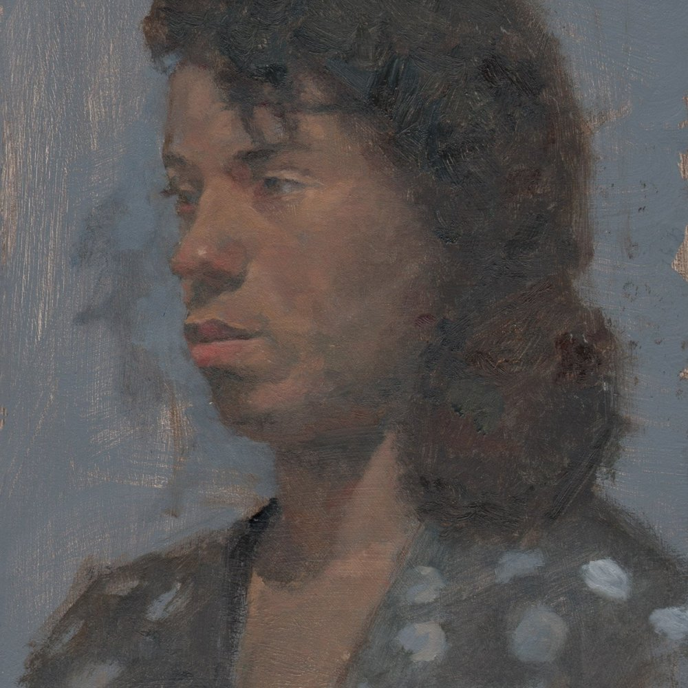 Arica, oil on treated paper, 11 x 8 in.