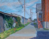 Midwestern Alley, oil on canvas,  20 x 24 in.