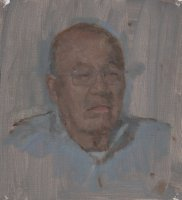 James Furiya - artist's father, oil on linen,